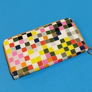 kate spade Bags - Kate Spade Saturday Checked Zip Around Wallet